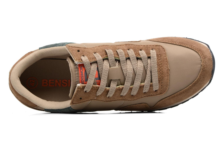 Baskets Bensimon Runnings H Beige vue gauche