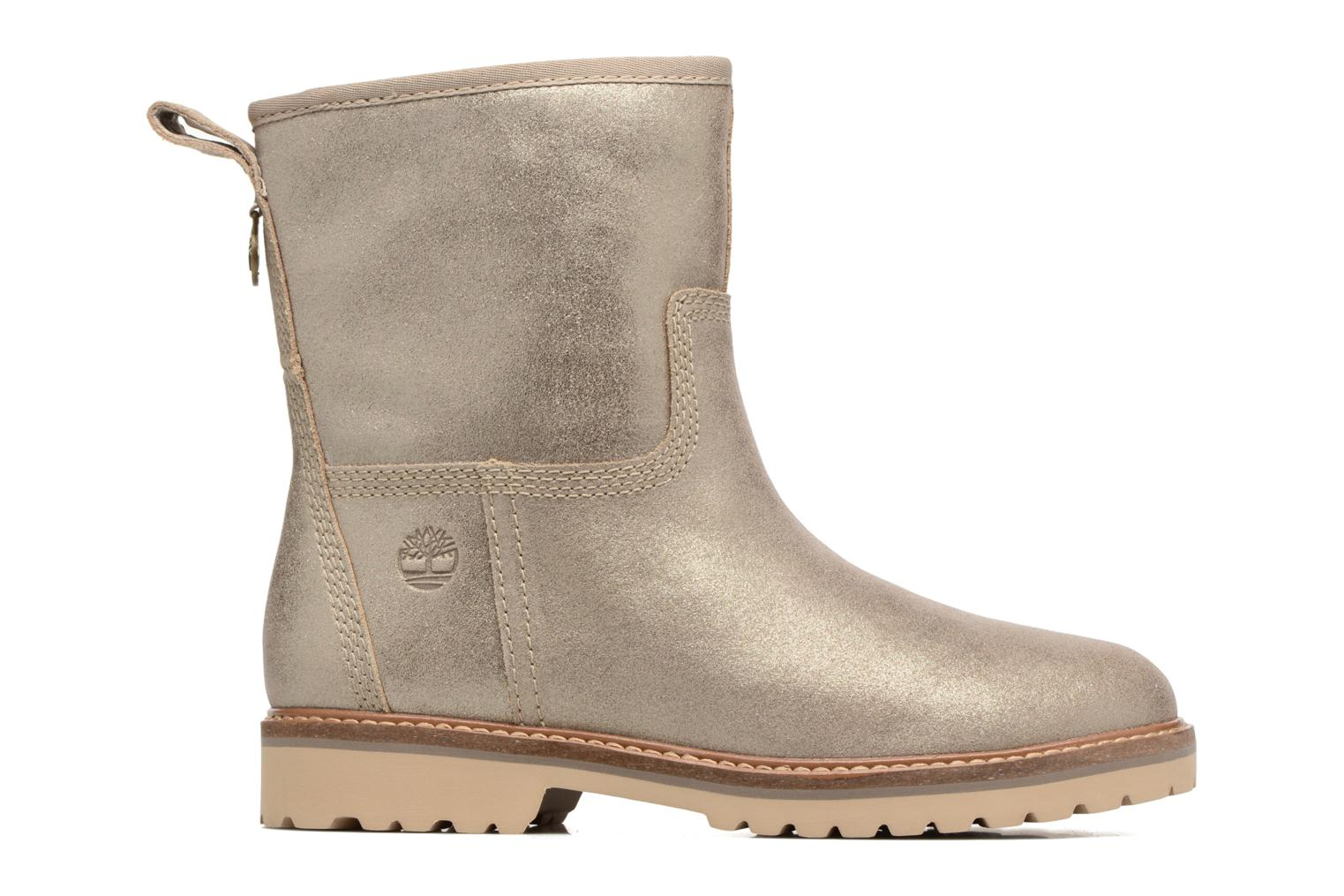 Chamonix Valley Winter Boot Gold Shiny Suede