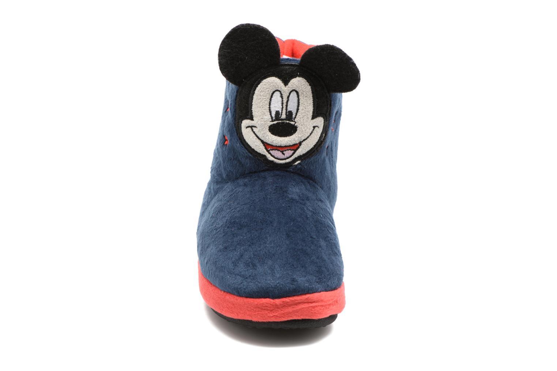 Chaussons Mickey Samare Bleu vue portées chaussures