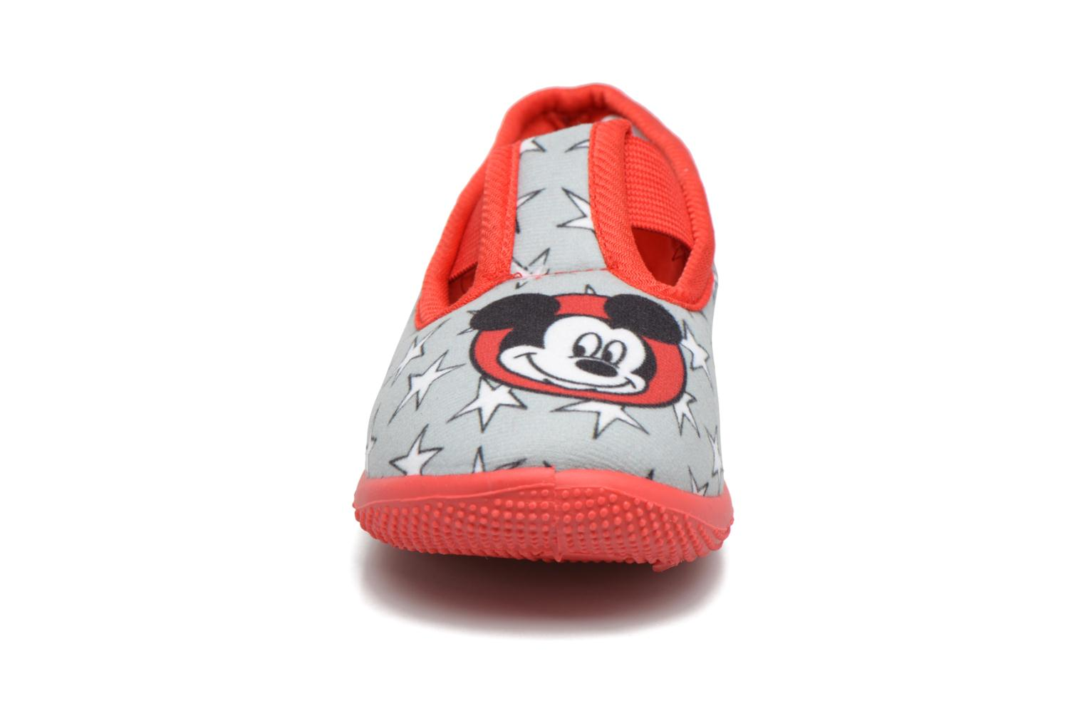Chaussons Mickey Salanque Mickey Gris vue portées chaussures