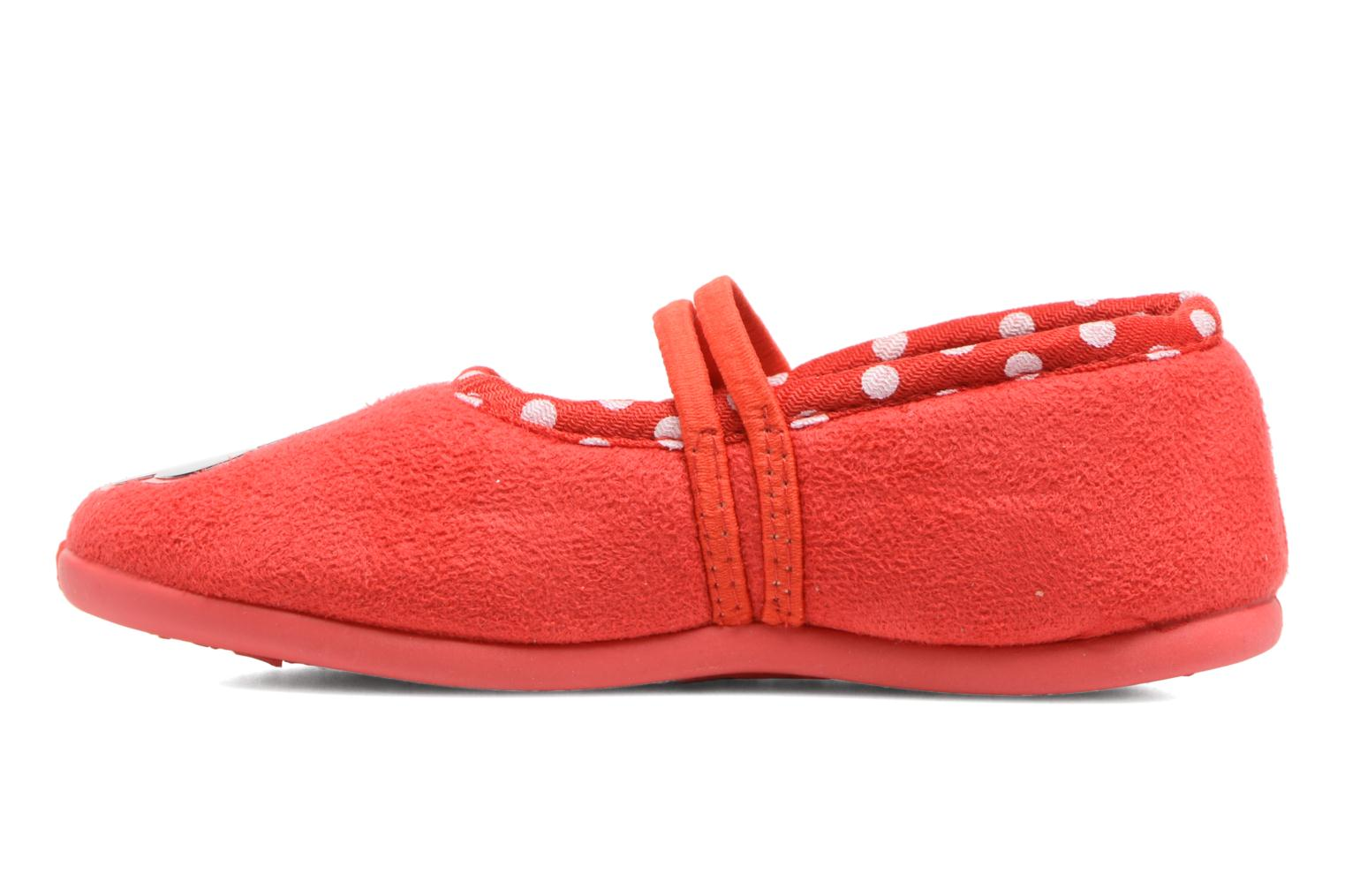 Chaussons Minnie Songe Rouge vue face