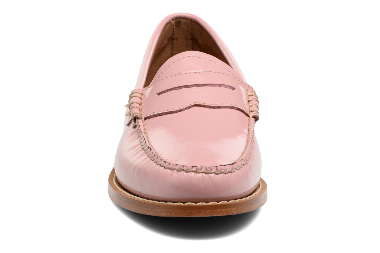 Mocassins G.H. Bass Weejun WMN Penny Wheel Rose vue portées chaussures