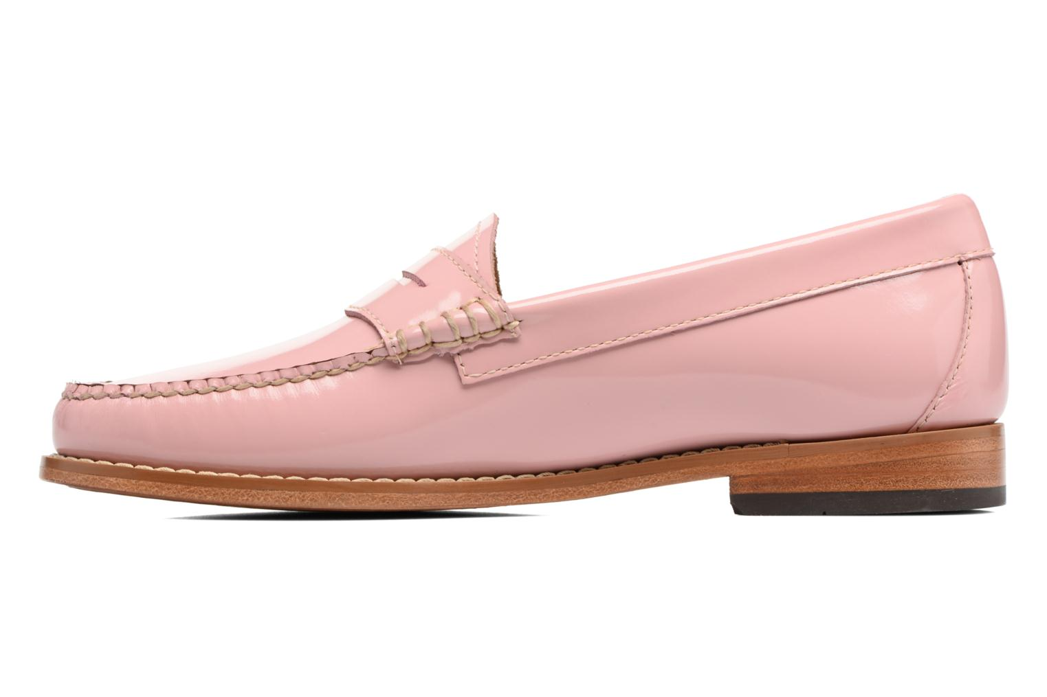 Loafers G.H. Bass Weejun WMN Penny Wheel Pink front view