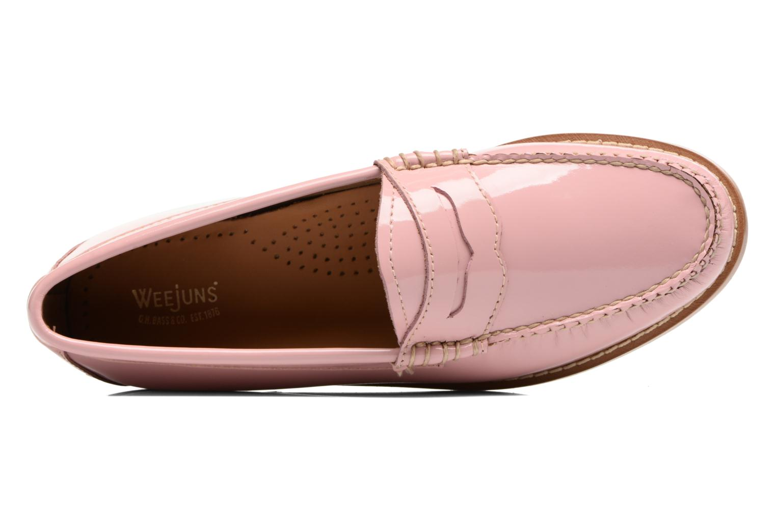 Loafers G.H. Bass Weejun WMN Penny Wheel Pink view from the left