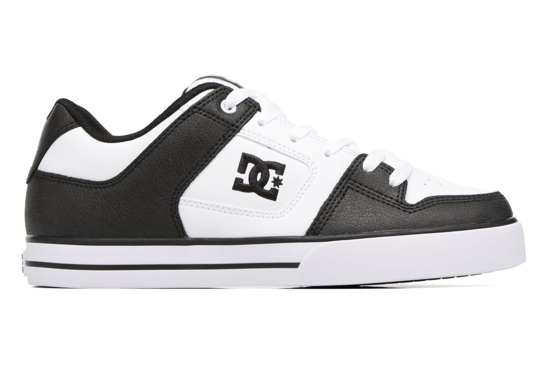 Baskets DC Shoes Pure M Blanc vue derrière