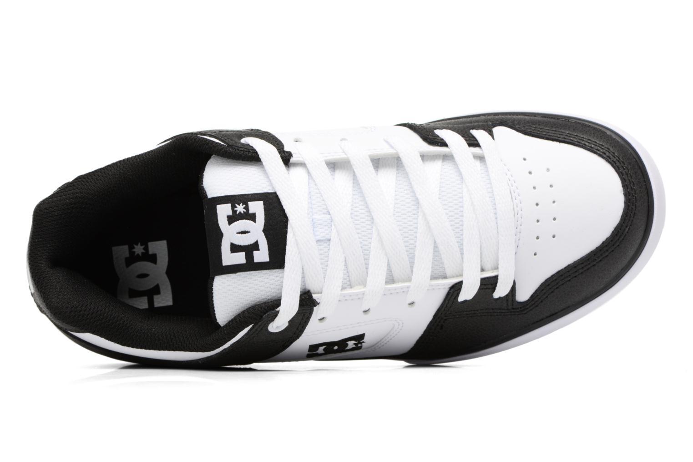 Baskets DC Shoes Pure M Blanc vue gauche