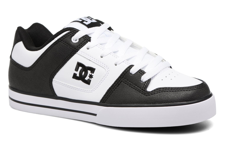 Baskets DC Shoes Pure M Blanc vue détail/paire