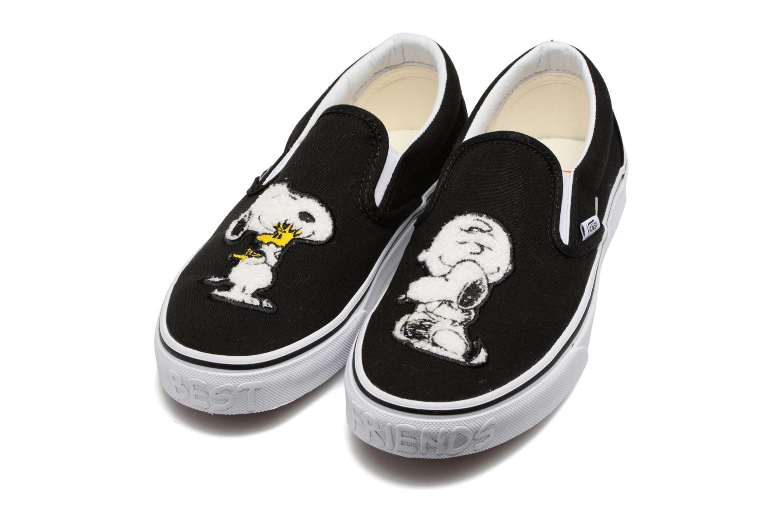 Baskets Vans Classic Slip-On W x Peanuts Noir vue 3/4
