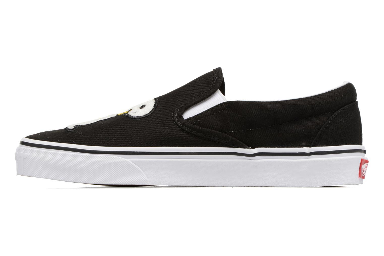 Sneakers Vans Classic Slip-On W x Peanuts Zwart voorkant