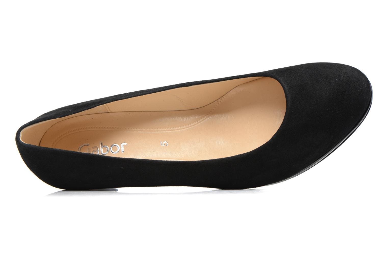 Zapatos de tacón Gabor Jeanna Negro vista lateral izquierda