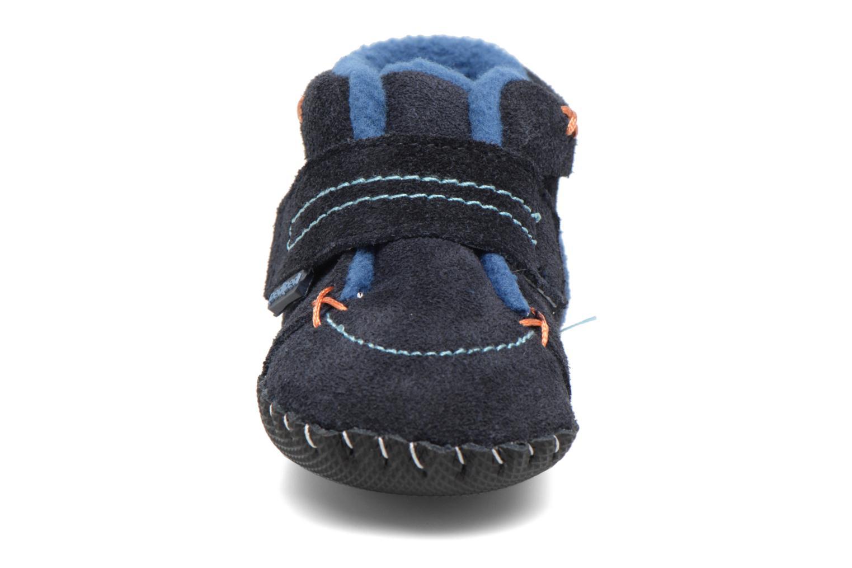 Chaussons Pediped Ronnie Bleu vue portées chaussures