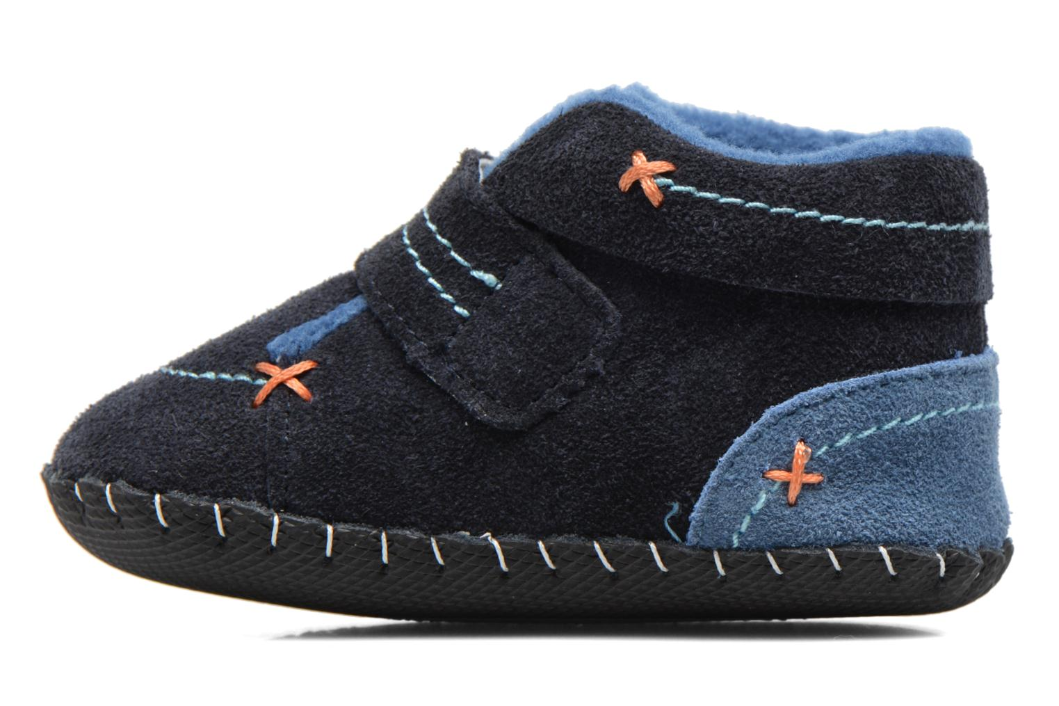 Chaussons Pediped Ronnie Bleu vue face