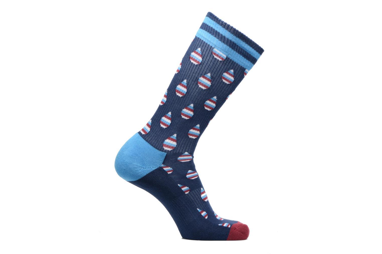 Sokken en panty's Happy Socks Athletic Drop Chaussettes Hautes Blauw detail