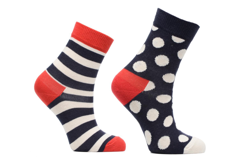 Strømper og tights Happy Socks Lot de 2 Chaussettes Stripe Kids Blå detaljeret billede af skoene