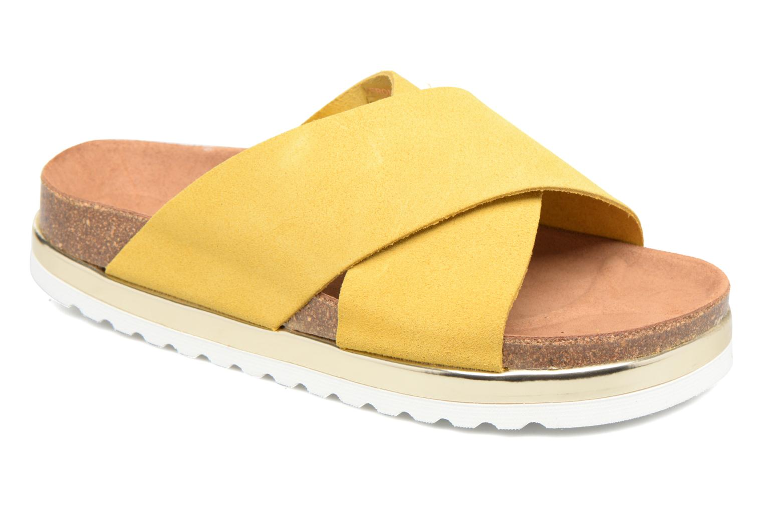 Vero Moda Lisa Leather Sandal Jaune 2NMJP