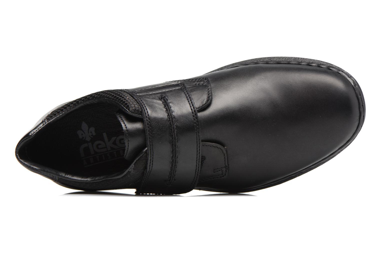 Chaussures à scratch Rieker Pio 04758 Noir vue gauche