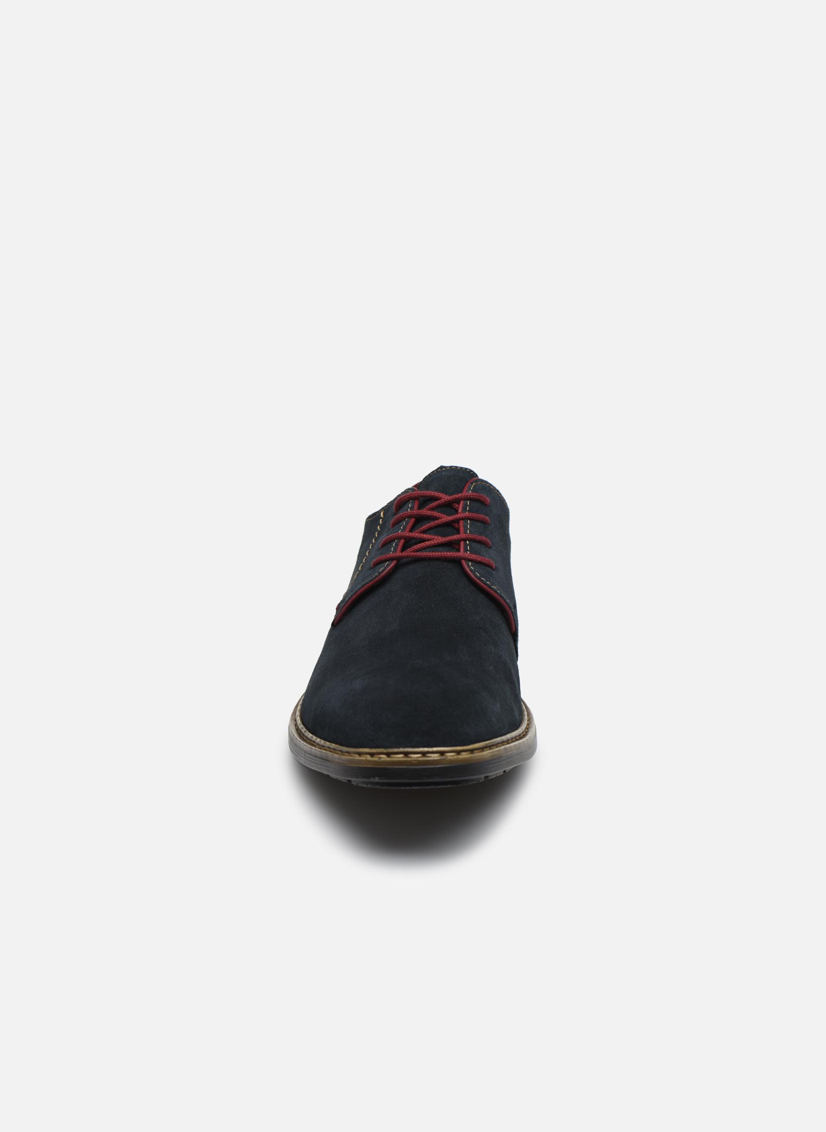 Chaussures à lacets Rieker Albert B1222 Bleu vue portées chaussures