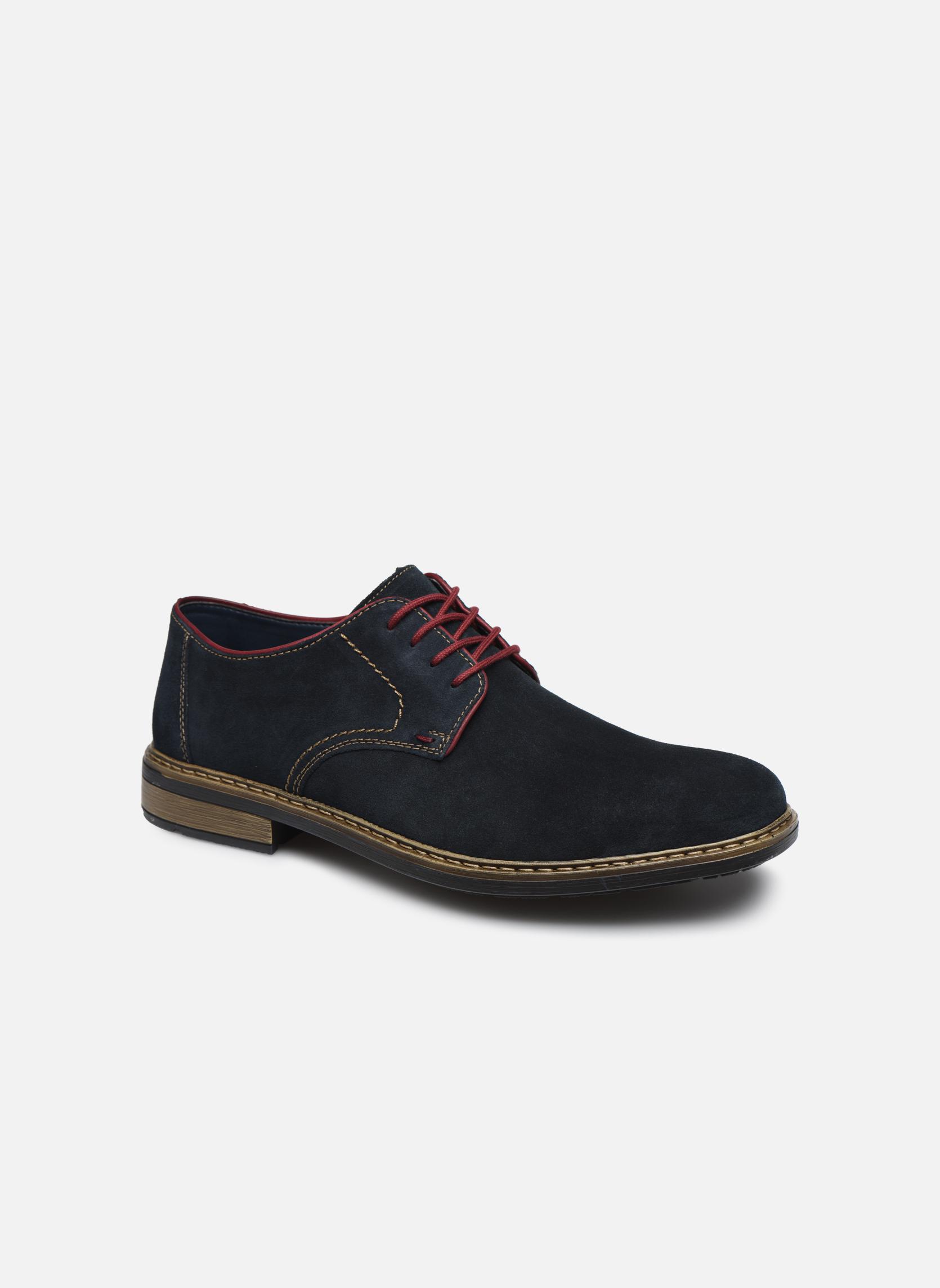 Chaussures à lacets Rieker Albert B1222 Bleu vue détail/paire