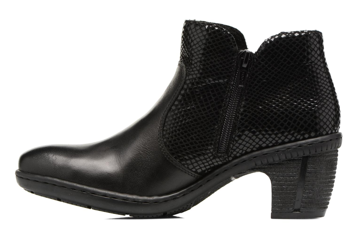 Ankle boots Rieker Anya 50288 Black front view