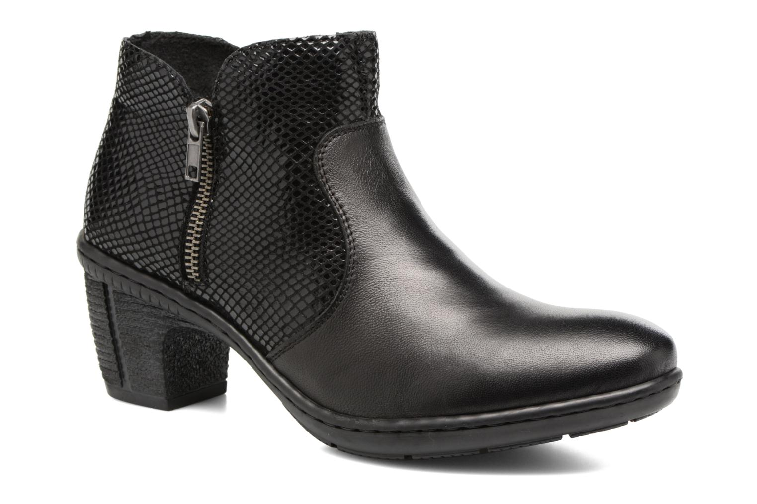 Ankle boots Rieker Anya 50288 Black detailed view/ Pair view