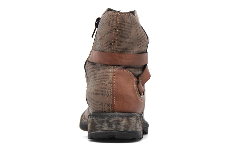 Bottines et boots Rieker Blair 746K0 Beige vue droite