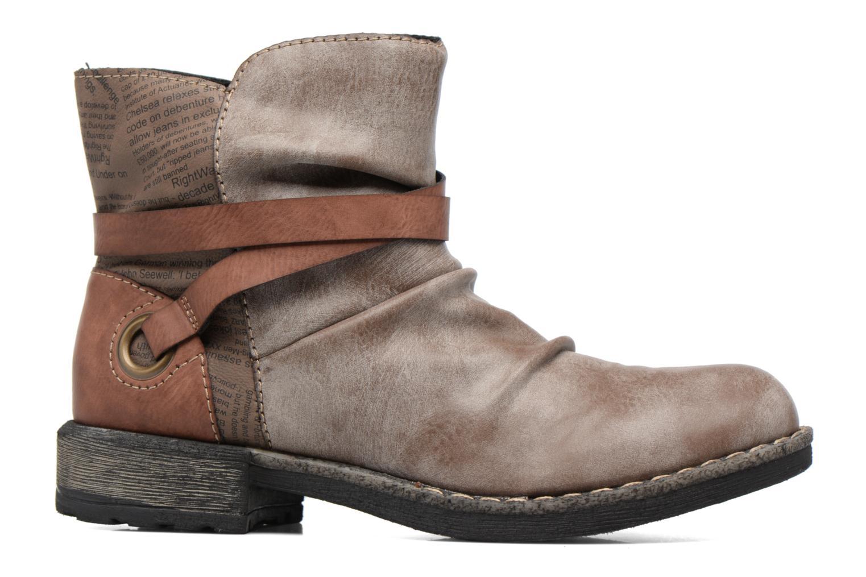 Bottines et boots Rieker Blair 746K0 Beige vue derrière