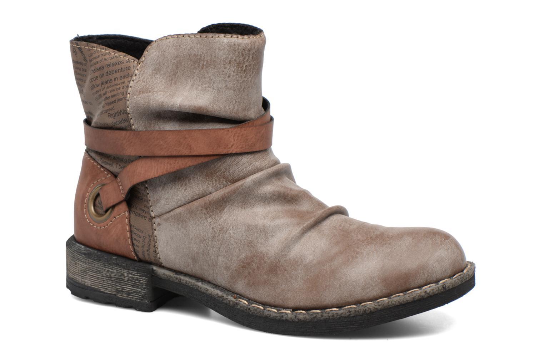 Bottines et boots Rieker Blair 746K0 Beige vue détail/paire