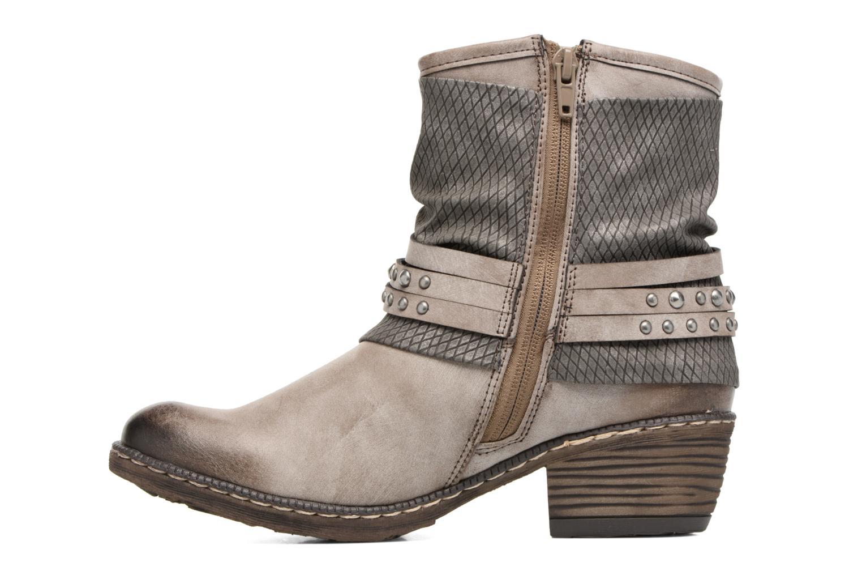 Bottines et boots Rieker Flo K1493 Gris vue face
