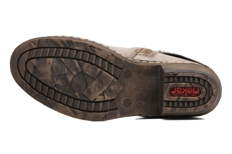 Bottines et boots Rieker Flo K1493 Gris vue haut