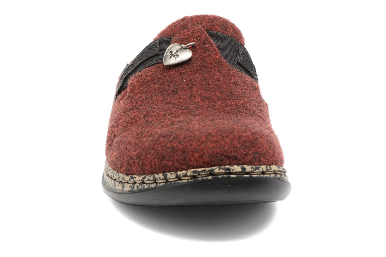 Chaussons Rieker Marg 46300 Bordeaux vue portées chaussures