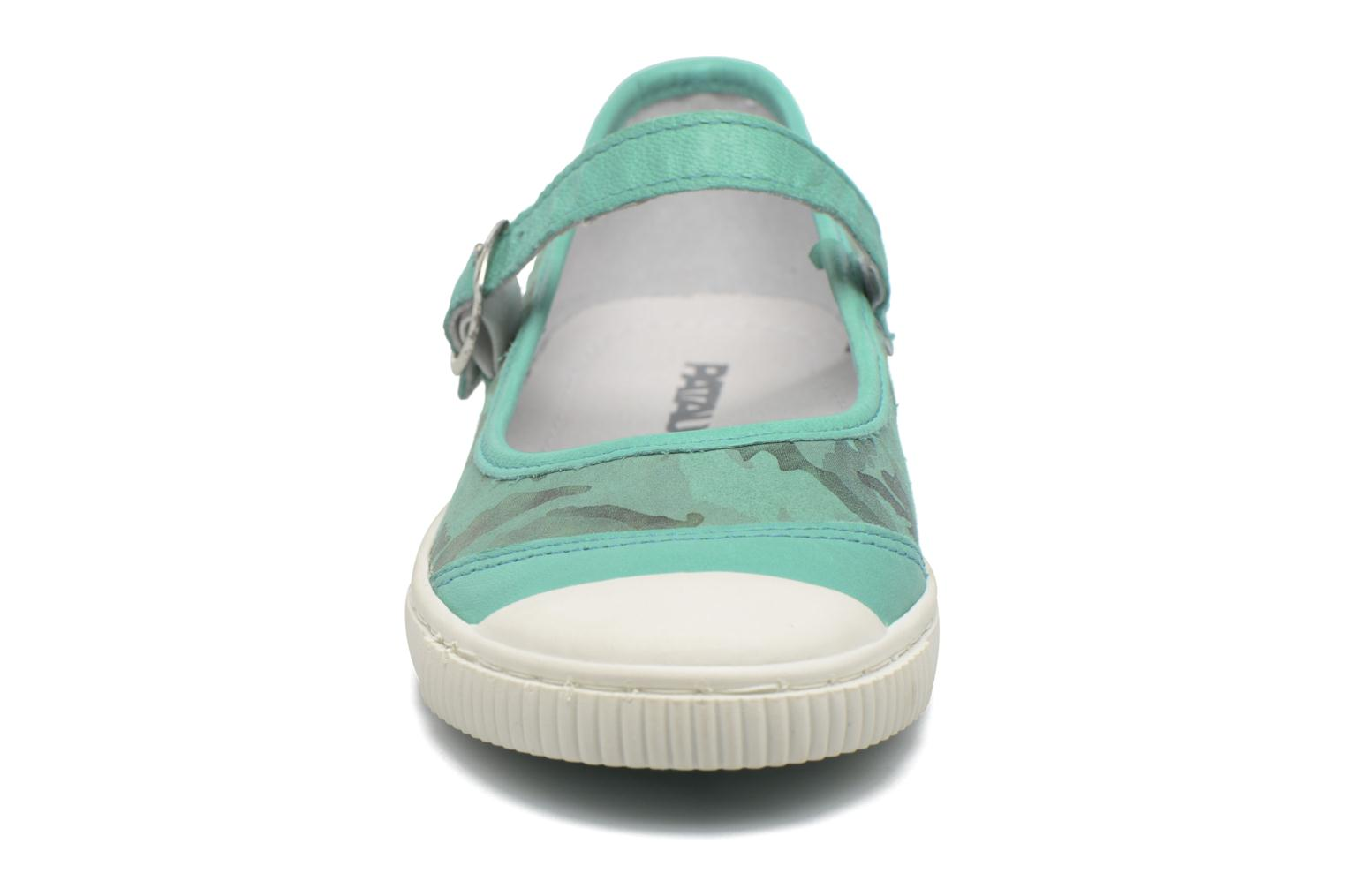 Ballerines Pataugas BOOST/BOWLING/I Vert vue portées chaussures