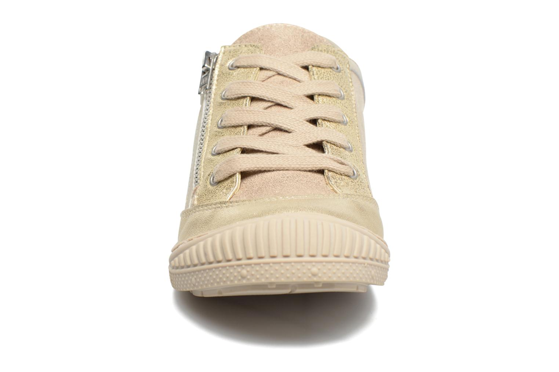 Baskets Pataugas RAP J Or et bronze vue portées chaussures