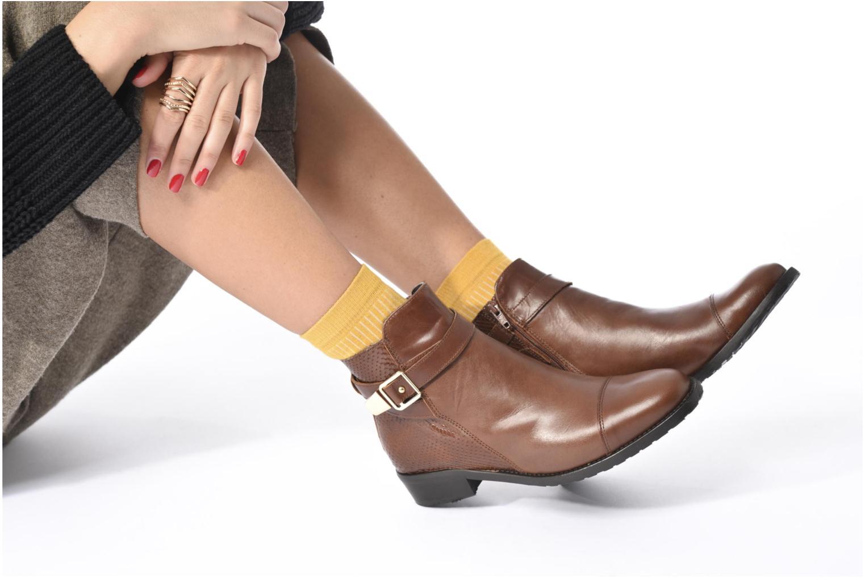 Stiefeletten & Boots Georgia Rose Lavanda schwarz ansicht von unten / tasche getragen