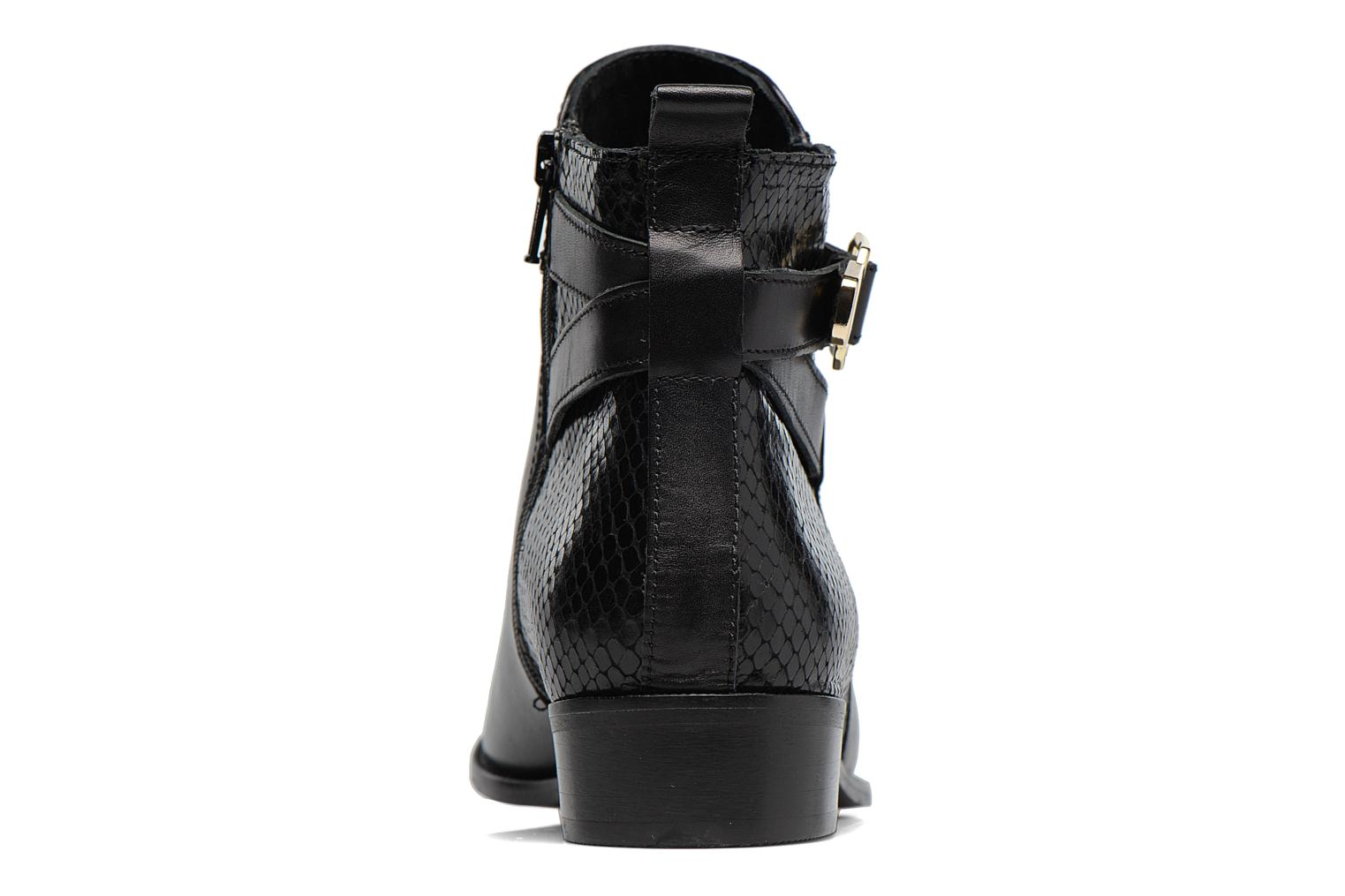 Ankle boots Georgia Rose Lavanda Black view from the right