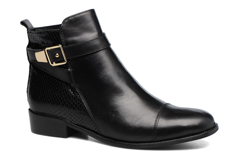 Ankle boots Georgia Rose Lavanda Black detailed view/ Pair view