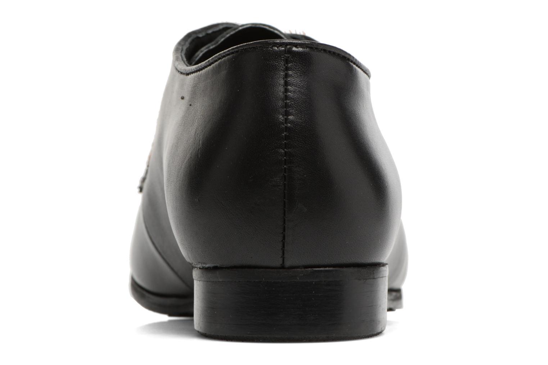 Zapatos con cordones Georgia Rose Lapra Negro vista lateral derecha