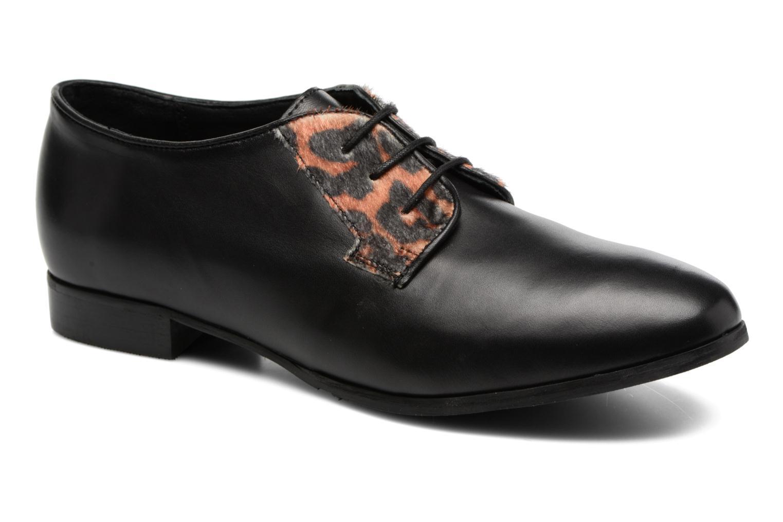 Zapatos con cordones Georgia Rose Lapra Negro vista de detalle / par