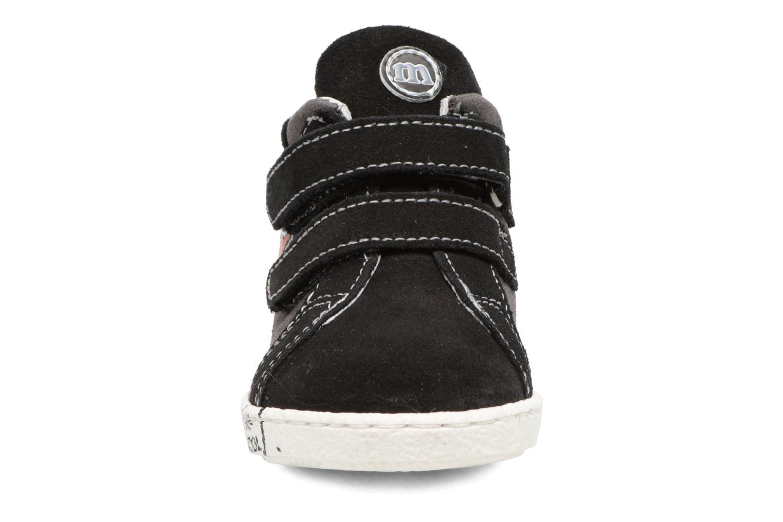 Baskets Melania POLACCO VELCRI Gris vue portées chaussures