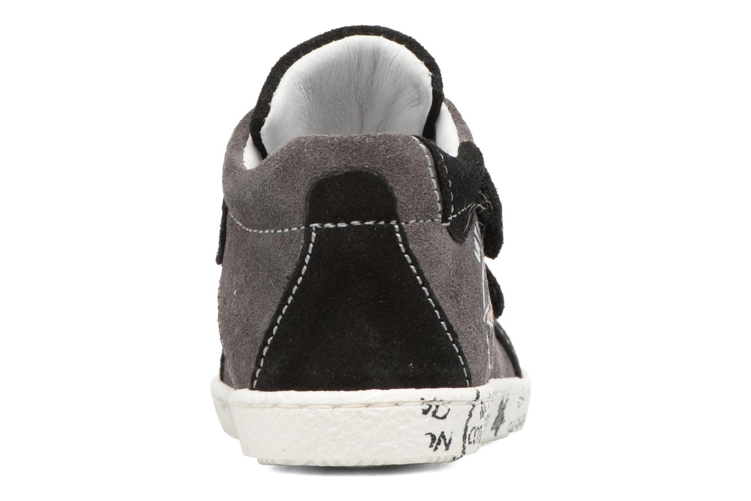 Trainers Melania POLACCO VELCRI Grey view from the right