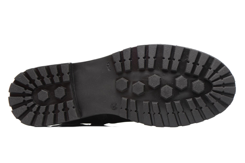 Stiefel Melania TRONCHETTO FIBBIA schwarz ansicht von oben