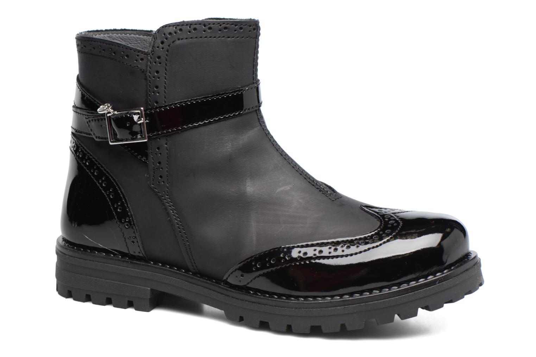 Støvler & gummistøvler Melania TRONCHETTO FIBBIA Sort detaljeret billede af skoene