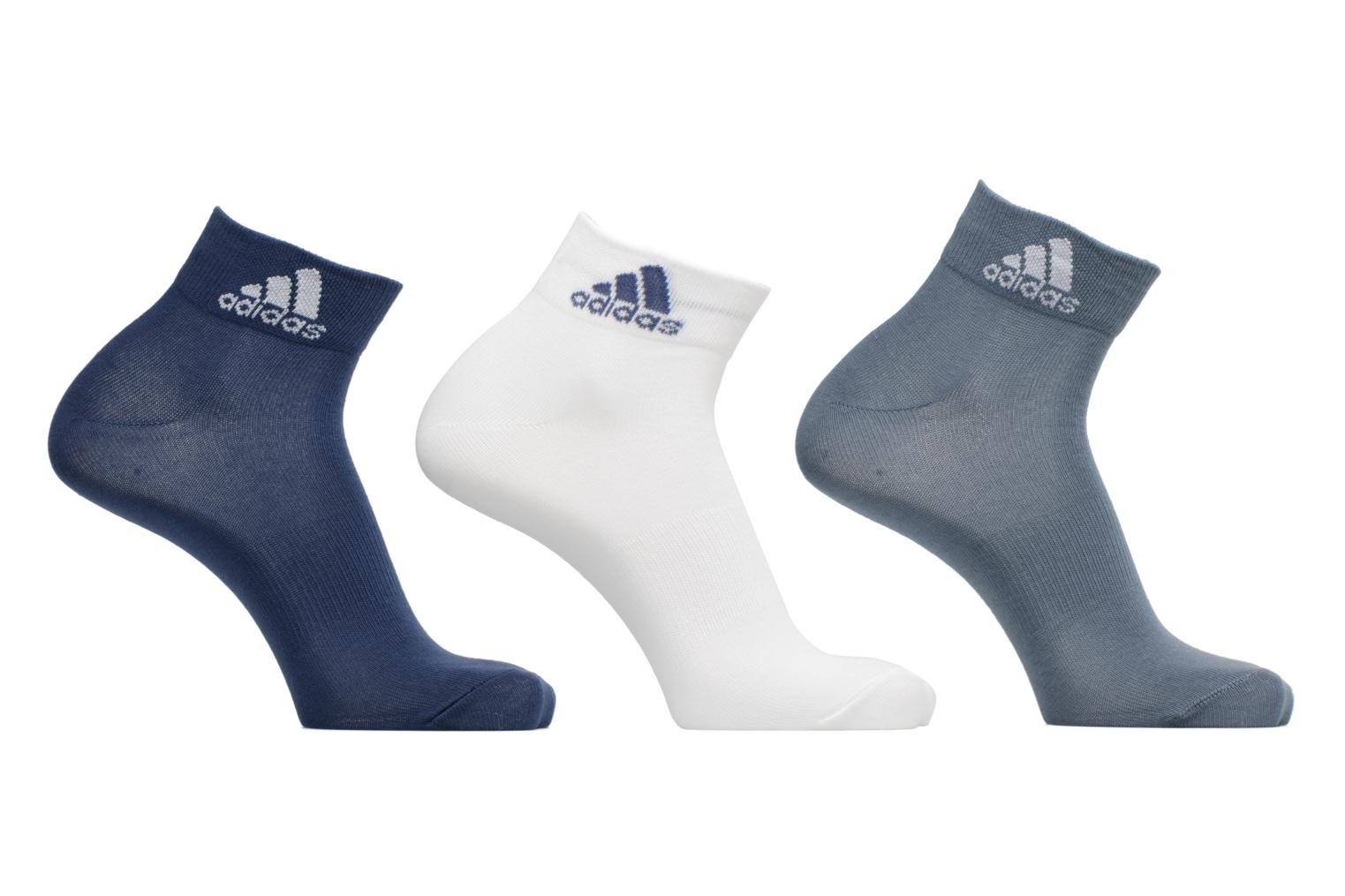 Socks & tights Adidas Performance PER ANKLE T 3PP Blue detailed view/ Pair view