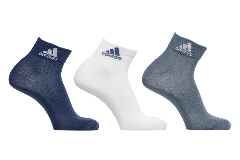 Strømper og tights Adidas Performance PER ANKLE T 3PP Blå detaljeret billede af skoene