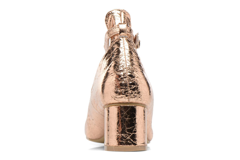 Ballerines I Love Shoes CAMILLA Or et bronze vue droite