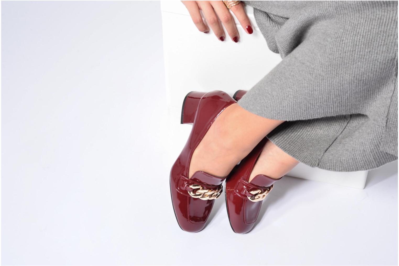 Mocassins I Love Shoes CELINA Bordeaux vue bas / vue portée sac