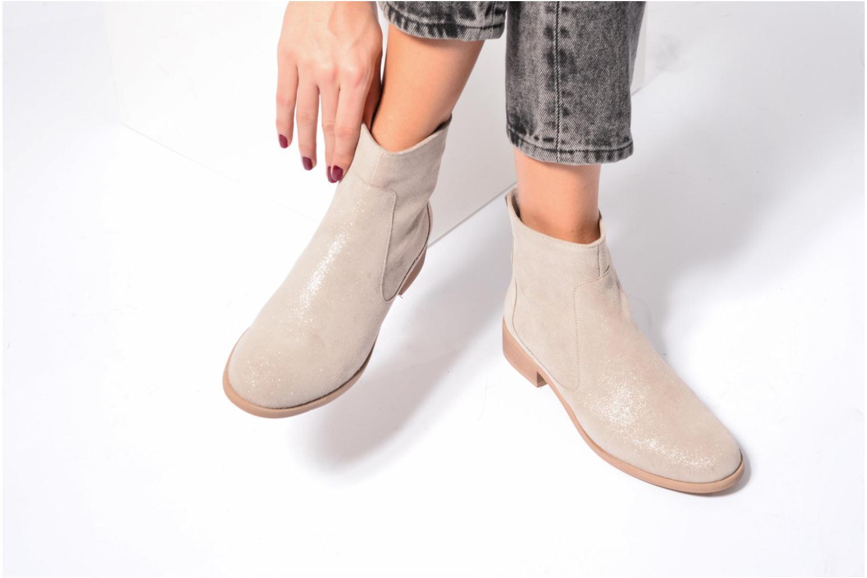 Bottines et boots Mellow Yellow Cha Beige vue bas / vue portée sac