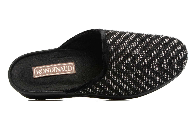 Pantuflas Rondinaud Esse Negro vista lateral izquierda