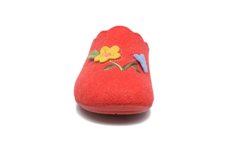 Chaussons Rondinaud Terrette Rouge vue portées chaussures