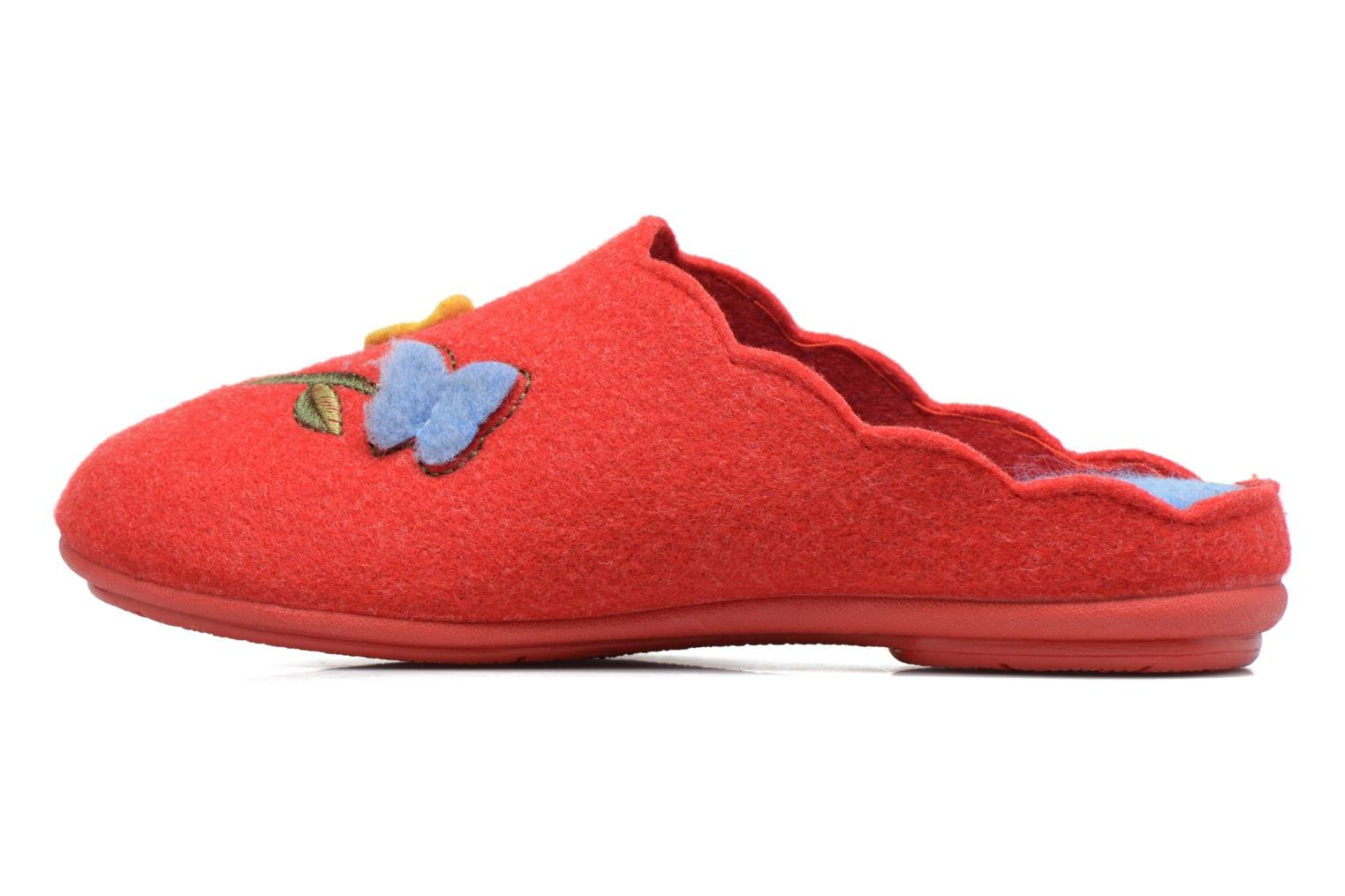 Chaussons Rondinaud Terrette Rouge vue face