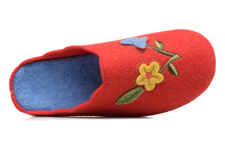 Pantuflas Rondinaud Terrette Rojo vista lateral izquierda